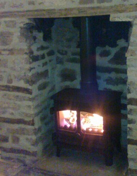 woodburning stove in lounge at meadowview